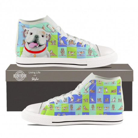 Bulldog Hightop Sneakers for Men by Living Life with Style