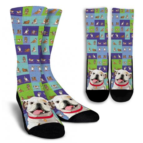 Bulldog Crew Socks