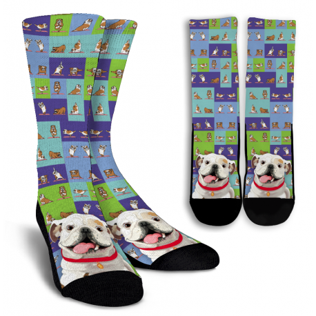 Bulldog Crew Socks