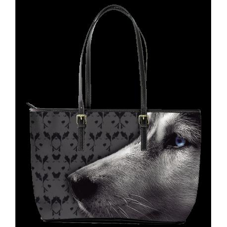 Husky Leather Tote Bag