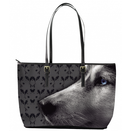 Husky Leather Tote Bag