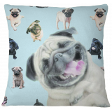 Pug Pillow Case Cover