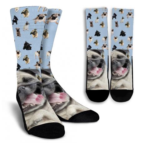 Pug Crew Socks