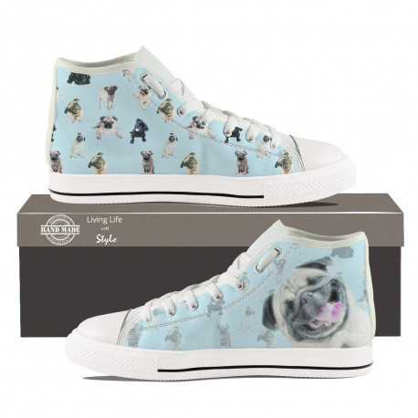 Pug Hightop Sneakers for Women by Living Life with Style