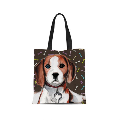 Beagle Canvas Tote Bag by Living Life with Style