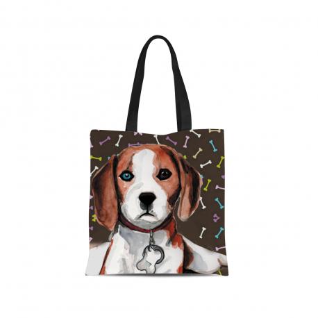 Beagle Canvas Tote Bag