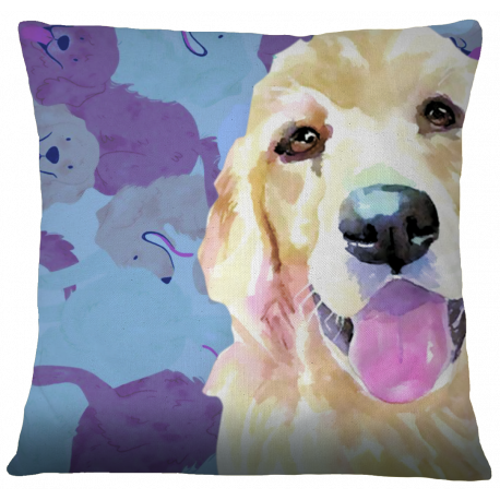 Golden Retriever Pillow Case Cover by Living Life with Style