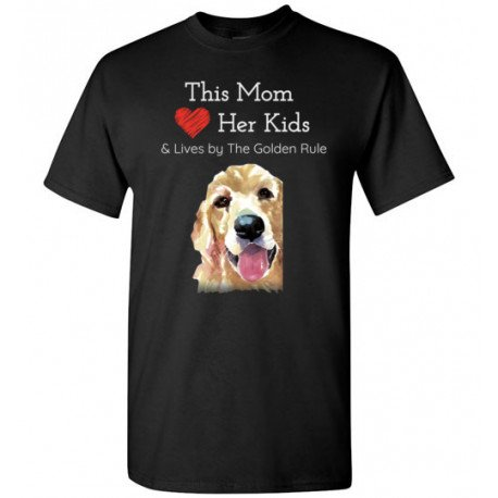 Mom & the Golden (Retriever) Rule by Living Life with Style shown in Black