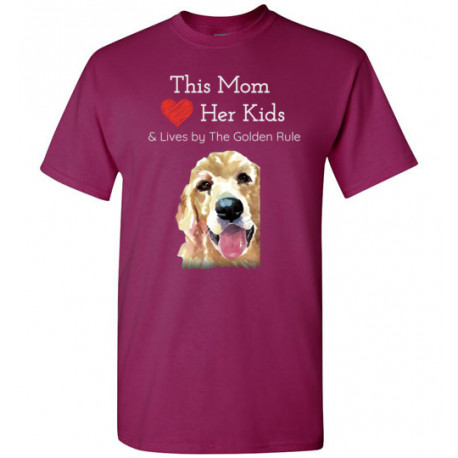 Mom & the Golden (Retriever) Rule by Living Life with Style shown in Berry