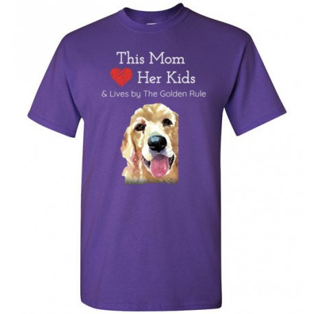 Mom & the Golden (Retriever) Rule by Living Life with Style shown in Purple