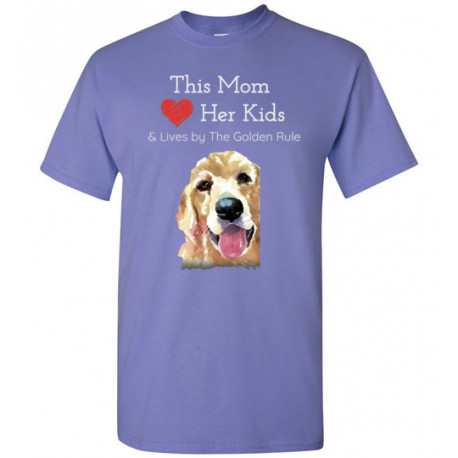 Mom & the Golden (Retriever) Rule by Living Life with Style shown in Violet