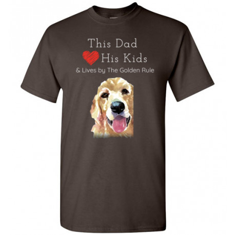 Dad & the Golden (Retriever) Rule by Living Life with Style shown in Dark Chocolate