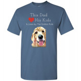Dad & the Golden (Retriever) Rule by Living Life with Style shown in Indigo Blue