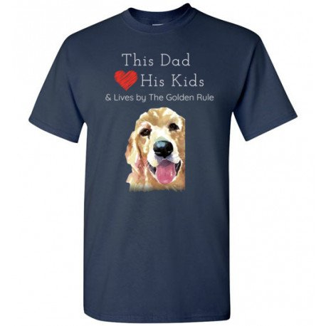 Dad & the Golden (Retriever) Rule by Living Life with Style shown in Navy