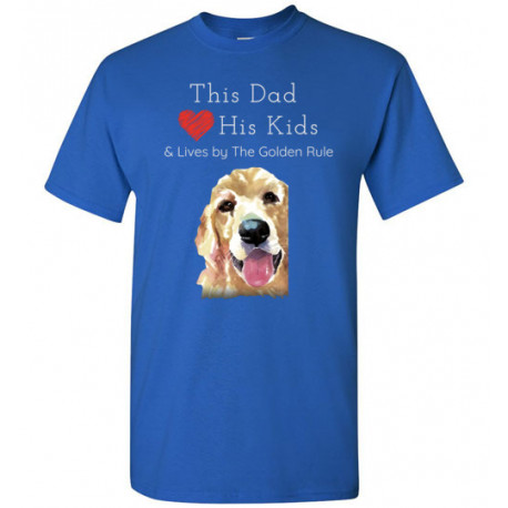 Dad & the Golden (Retriever) Rule by Living Life with Style shown in Royal