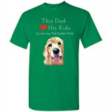 Dad & the Golden (Retriever) Rule by Living Life with Style shown in Turf Green