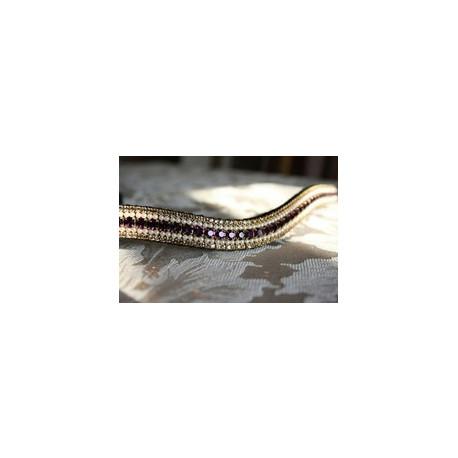 Amethyst/Pearl & Gold Crystal Browband