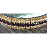 Amethyst/Pearl & Gold Crystal Browband