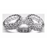 Rhinestone Mane Braid Bling Bands (Pack Of 15)