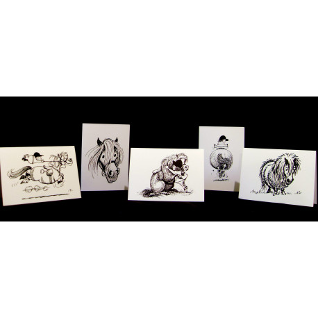 Thelwell Greeting Cards 5 Pack