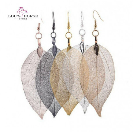 Unique Natural Real Leaf  Earrings