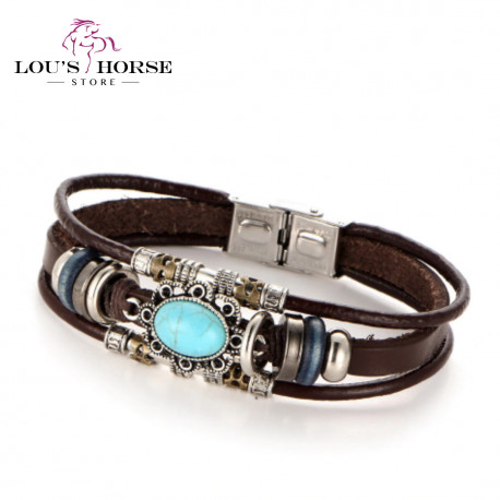 Handmade Leather 3 Strand Bracelet
