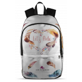 Let's Ride Feather Design Backpack