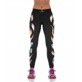 Fabulous Feather Accent Yoga Workout Fitness Leggings