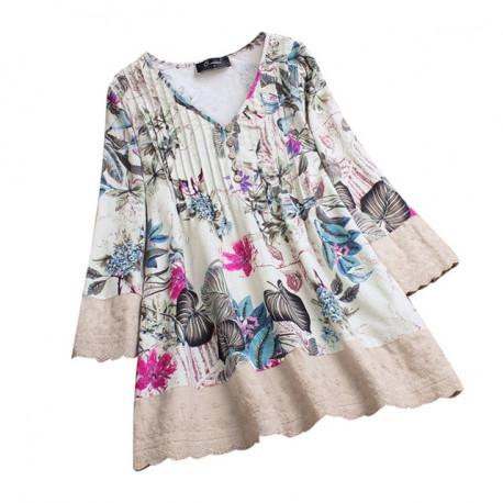 Floral Print & Lace Blouse