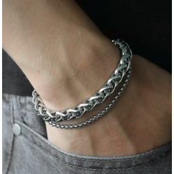 Men's Bracelet Double Chain