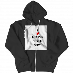 I Love LOVING STYLE NOW Zipper Hoodie
