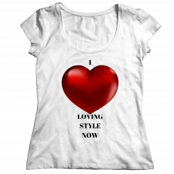 I Love LOVING STYLE NOW Ladies Classic Shirt