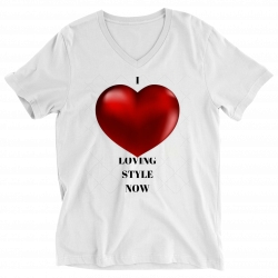 I Love LOVING STYLE NOW Ladies V-Neck