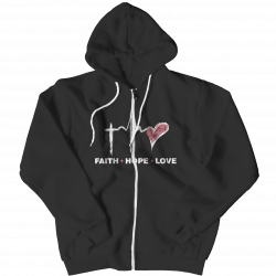 Faith Hope Love -Zipper Hoodie