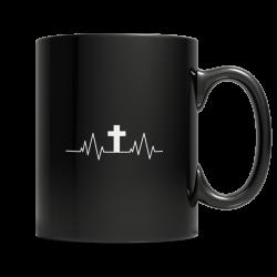 Christian Heartbeat Cross- Zipper Hoodie