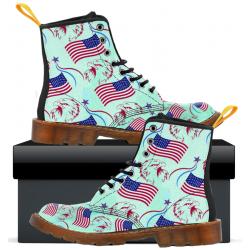 Patriotic Eagle flag - Kids Canvas Boots