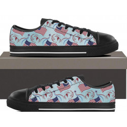 Patriotic Eagle flag  - Womens Low top
