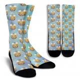 Beer & Pretzel Pattern Socks