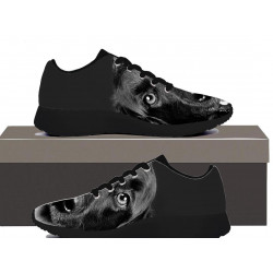 Dog Black And White - Womens Sneakers