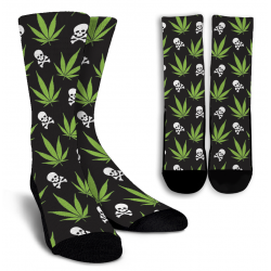 Weed Pattern - Socks