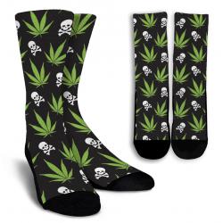 Weed Pattern - Socks
