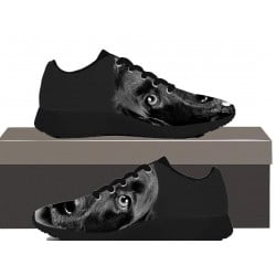 Dog Black And White  - Kids Sneakers