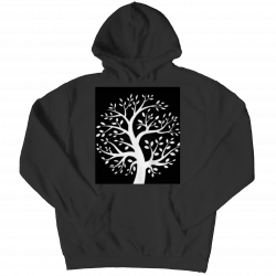 Black & White Tree- Youth Hoodie