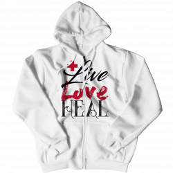 Live Love Heal Nurse -Zipper Hoodie