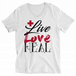 Live Love Heal Nurse -Ladies V-neck Shirt