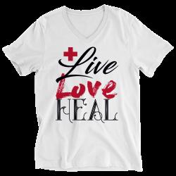 Live Love Heal Nurse -Ladies V-neck Shirt