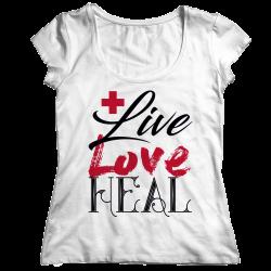 Live Love Heal Nurse-Ladies Classic Shirt