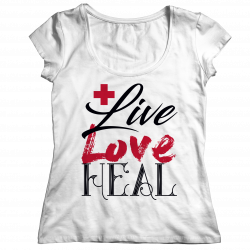 Live Love Heal Nurse-Ladies Classic Shirt