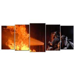 Firefighters - 5 panels Wall art