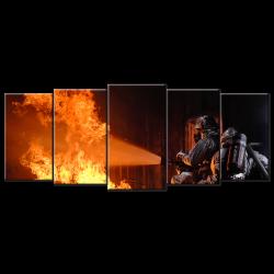 Firefighters - 5 panels Wall art